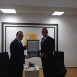 Kıbrıs Türk Ticaret Odası Başkanı Fikri Toros, Türkiye İktisadi Kalkınma Vakfı (İKV) Yönetim Kurulu Başkanı Ayhan Zeytinoğlu ve heyetini kabul ederek iki kurum arasındaki işbirliği fırsatlarını görüştü