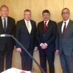 Almanya'da temaslarda bulunan KTTO ve KEBE Başkanları Almanya'dan çözüm sürecine ve ekonomik işbirliğine destek ve adaya yatırım çağrısında bulundular