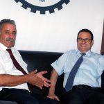 """26 Temmuz 2018 -Kıbrıs Türk Ticaret Odası Yönetim Kurulu'nun """"toplumsal uzlaşı"""" arayışları çerçevesinde aldığı karar doğrultusunda başlattığı çalışmalar neticesinde Kamu İşçi Sendikaları Federasyonu ziyaret etti"""
